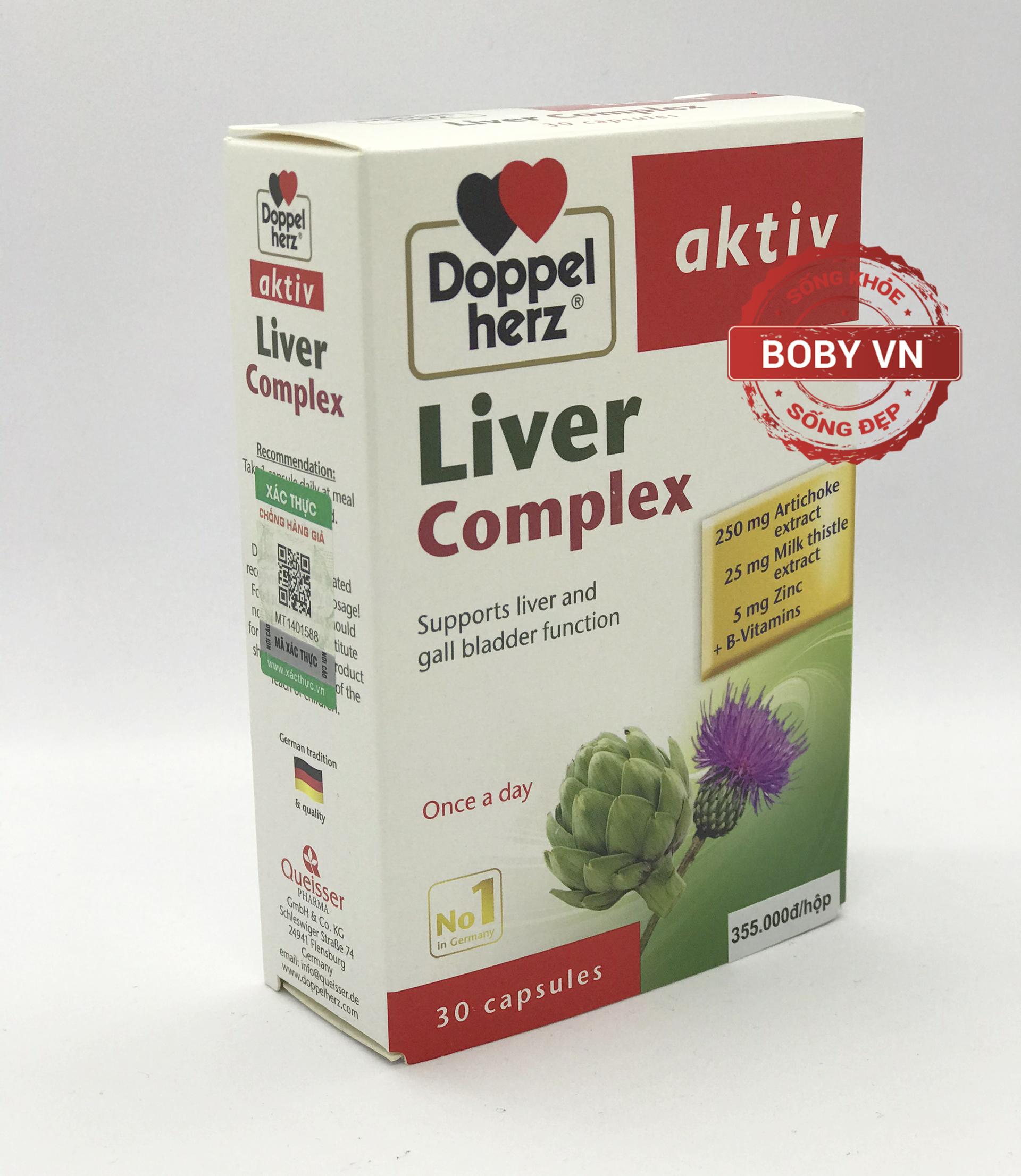 Doppel herz Aktiv Liver Complex hỗ trợ giải độc tăng cường chức năng gan