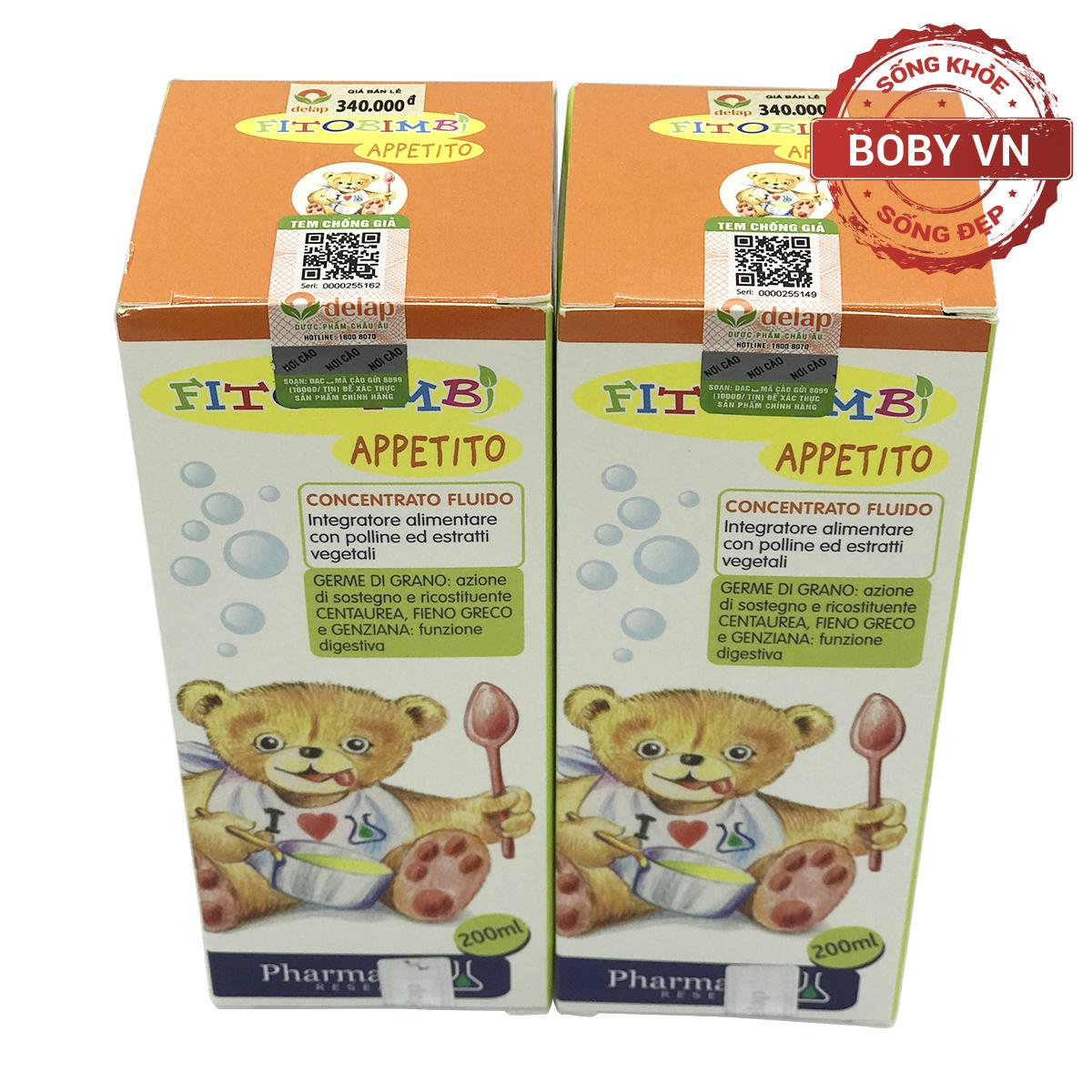 Appetito Bimbi giúp bé ăn ngon hơn hỗ trợ điều trị biếng ăn ở trẻ - Nhập khẩu từ Ý - Chính hãng