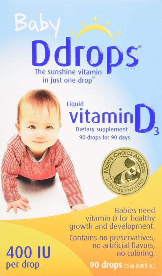 Baby Ddrops Vitamin D3 Cho Trẻ Sơ Sinh 90 Giọt