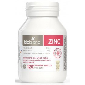 Bio Island Zinc 120 Viên Hỗ Trợ Bổ Sung Kẽm Cho Trẻ