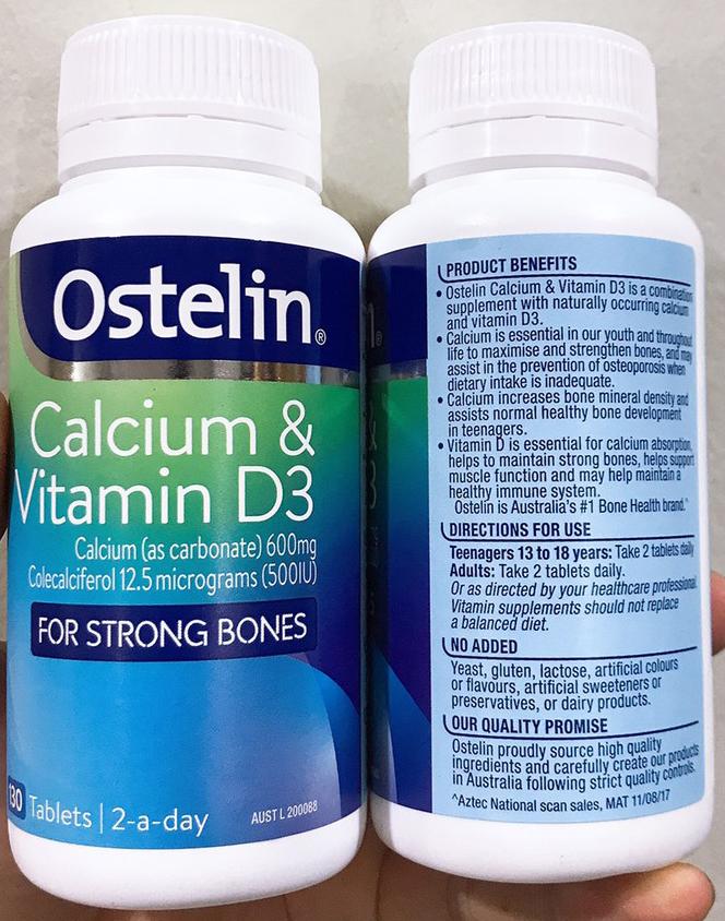 Ostelin Vitamin D & Calcium Của Úc