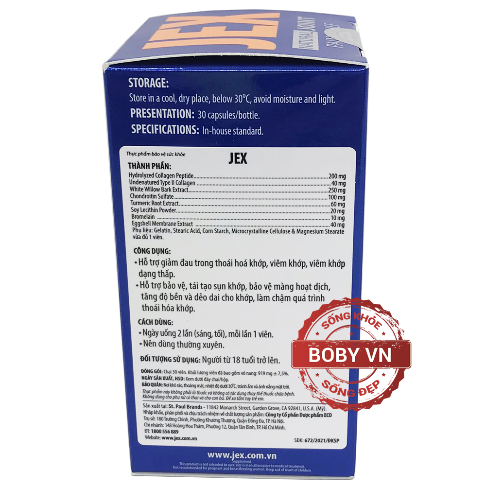 Jex Max viên uống hỗ trợ điều trị viêm khớp - bổ khớp, tái tạo sụn khớp