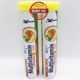 Viên C sủi multivitamin pluszs bổ sung Vitamin C và khoáng chất (20 viên)