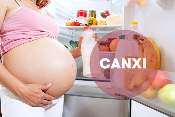 Canxi cho bà bầu 3 tháng cuối thai kỳ