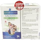 Canxi nano Nature bổ sung Calci, Vitamin D3 & K2 giúp xương, răng chắc khỏe, giảm nguy cơ còi xương ở trẻ nhỏ - Hộp 30 viên