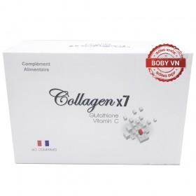 Collagen x7 bổ sung Glutathione và Vitamin C hộp 60 viên - Xuất xứ Pháp
