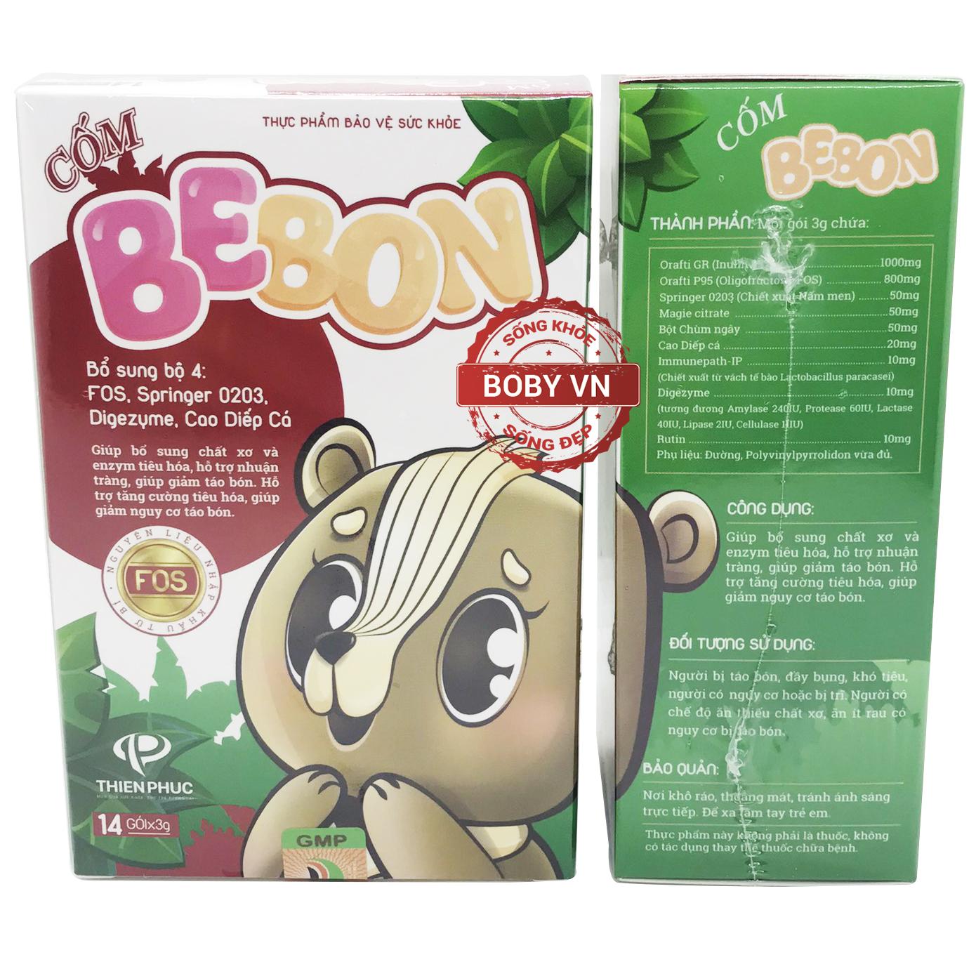 Cốm BeBon bổ sung chất xơ và enzym tiêu hóa, hỗ trợ nhuận tràng giảm táo bón