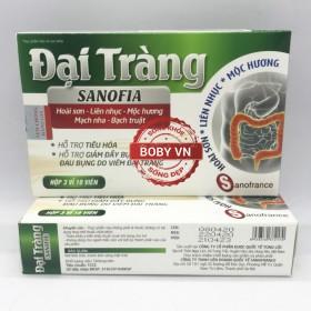 Đại tràng Sanofia - Hỗ trợ tiêu hóa giảm đầy bụng đau bụng do viêm đại tràng (Hộp 3 vỉ 10 viên)