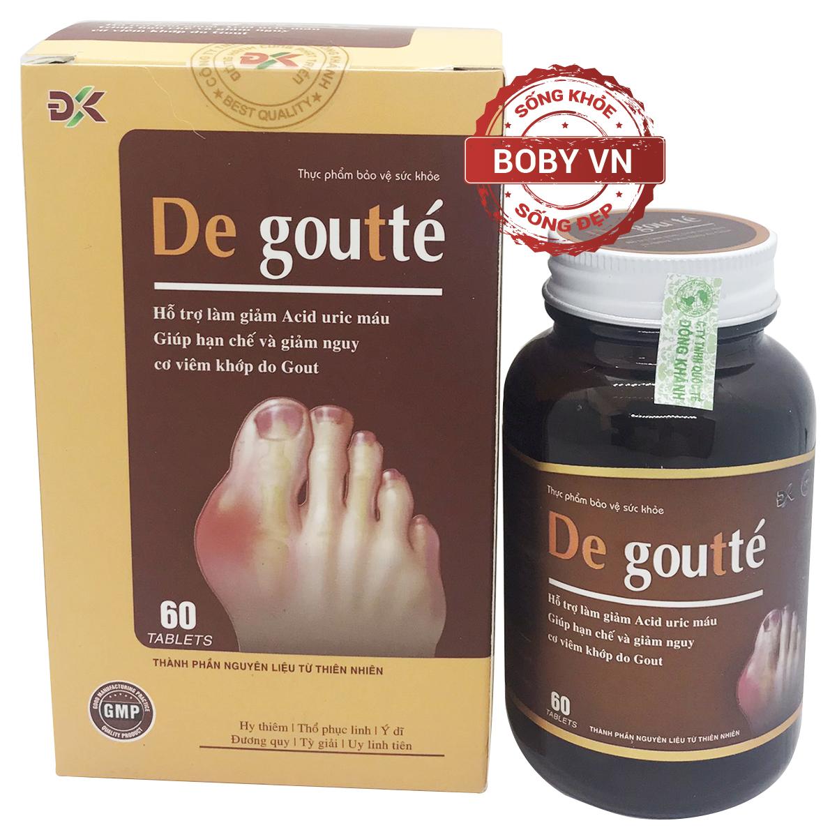 De goutte hỗ trợ làm giảm Acid uric máu, giúp hạn chế và giảm nguy cơ viêm khớp do Gout