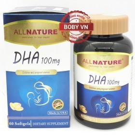 DHA 100mg - Bổ sung DHA cho trẻ em, người lớn, phụ nữ dự định mang bầu, có thai và cho con bú