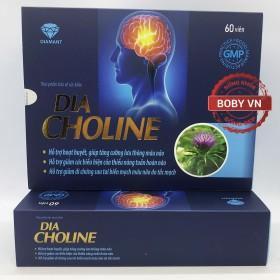 Dia Choline hỗ trợ hoạt huyết, giúp tăng cường lưu thông máu não, hỗ trợ giảm các biểu hiện của thiểu năng tuần hoàn não