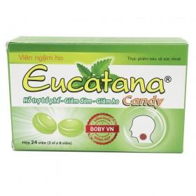Eucatana Candy - Bổ phế, giảm đờm, giảm ho (Hộp 24 viên 3 vỉ)
