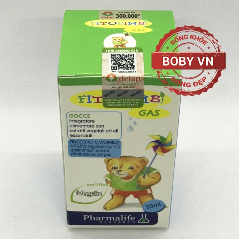 Fitobimbi Gas hỗ trợ giảm đầy hơi nôn trớ chướng bụng tăng cường hệ tiêu hóa cho bé - Nhập khẩu Ý