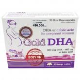 Gold DHA - Bổ sung DHA và folic acid cho phụ nữ có thai và cho con bú chính hãng Ba Lan