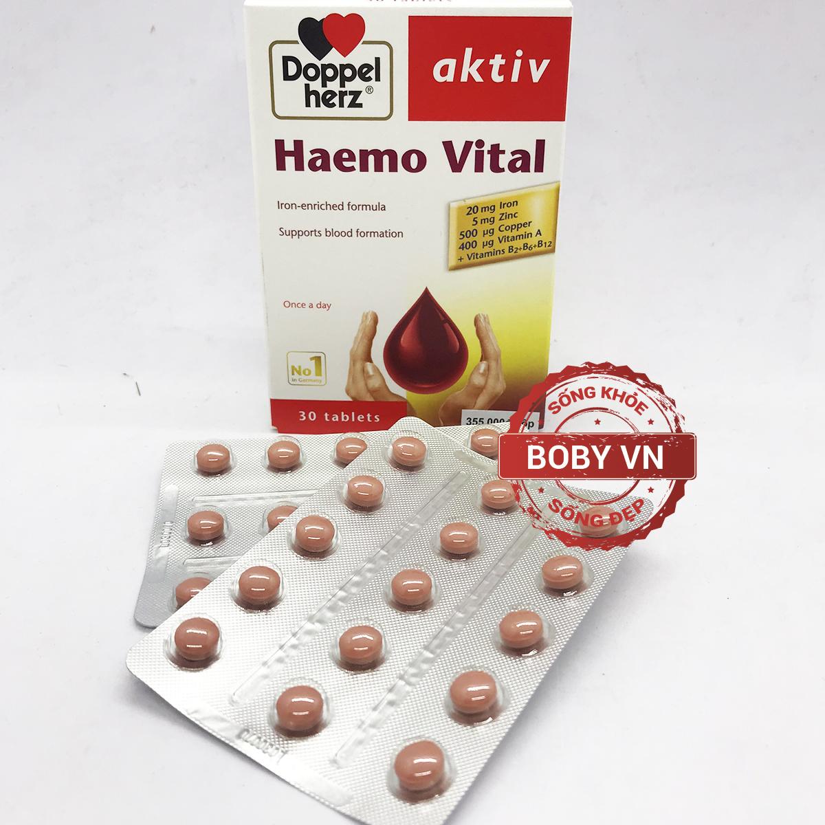 Doppel herz aktiv Haemo Vital bổ sung vitamin và khoáng chất cho bà bầu