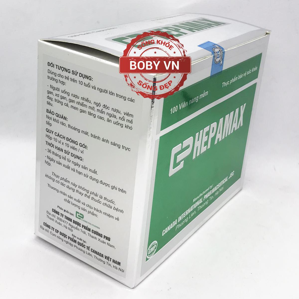 Giải độc gan Hepamax hỗ trợ hạ men gan, thanh nhiệt giải độc