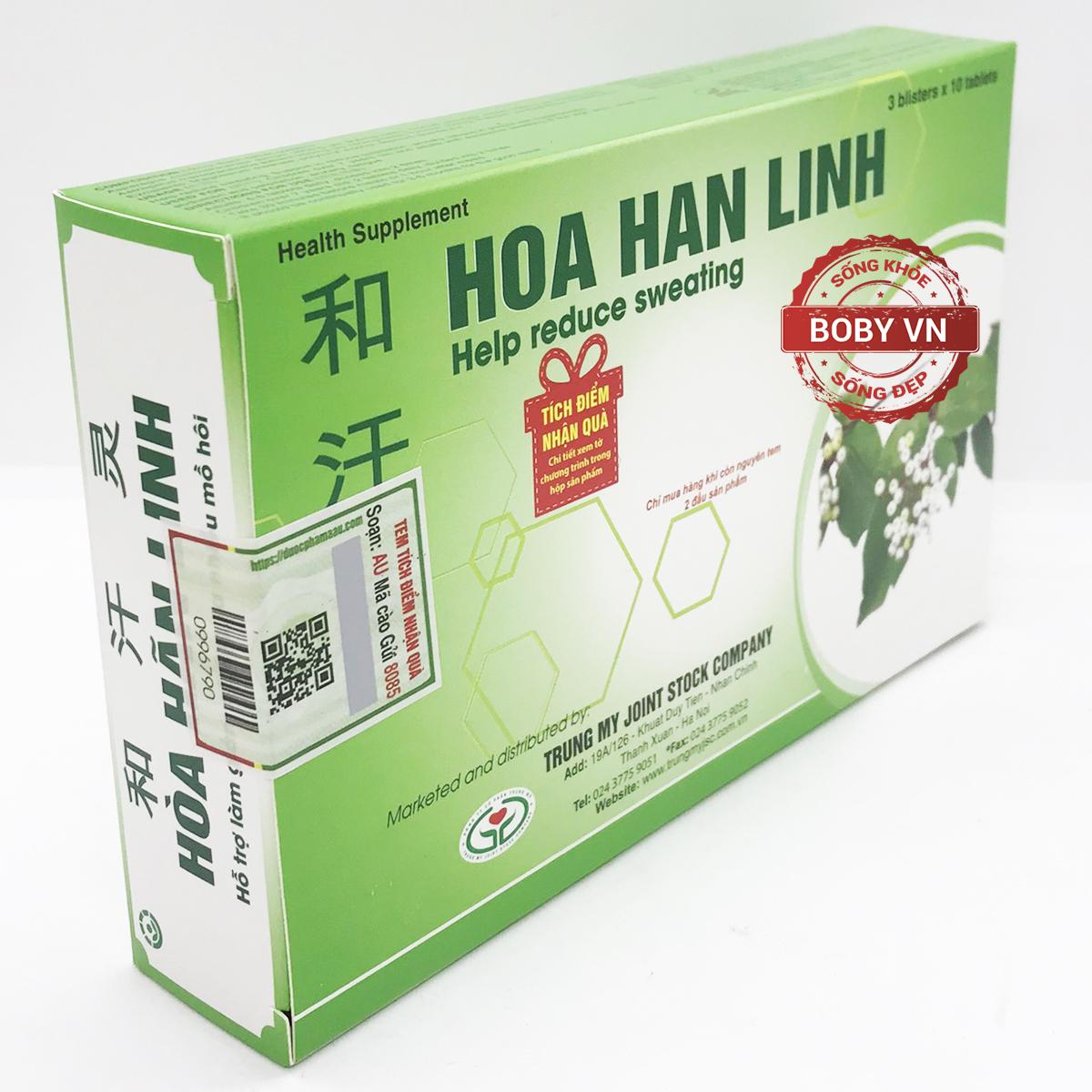 Hòa Hãn Linh hỗ trợ làm giảm chứng ra nhiều mồ hôi