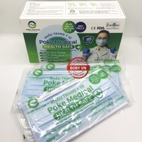 Khẩu trang y tế 4 lớp Poke Medical (1 túi 1 cái x 20 cái )