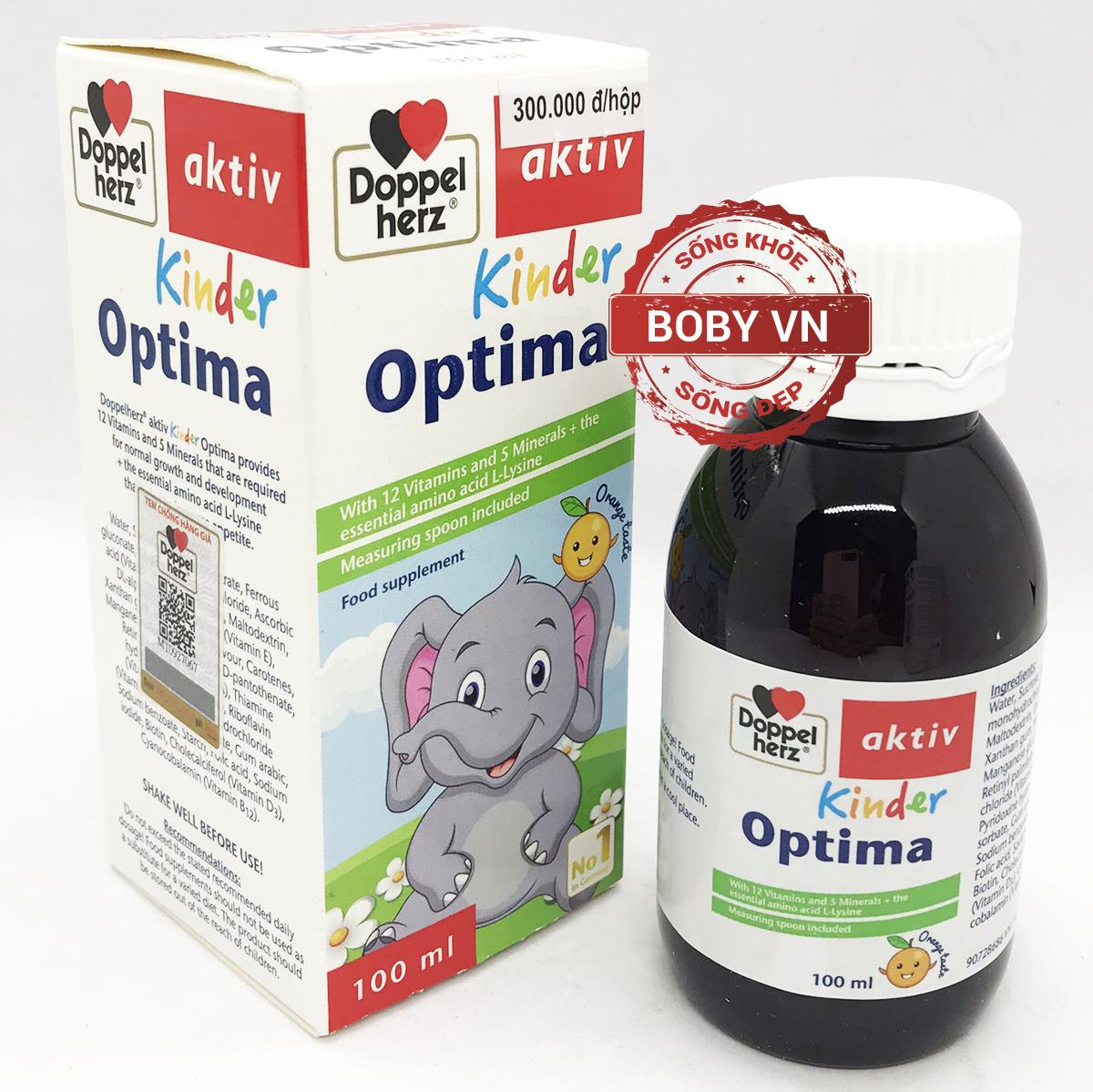 Doppel herz Aktiv Kinder Optima hỗ trợ trẻ biếng ăn, chậm lớn, hấp thu kém - Chính hãng Đức
