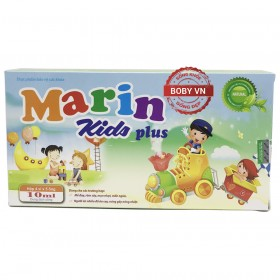 Marin Kids Plus ngăn ngừa mề đay, rôm sảy, mụn nhọt ở trẻ (Hộp 4 vỉ x 5 ống 10ml)