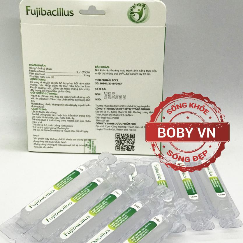 Men vi sinh hỗ trợ đường ruột Fujibacillus (Hộp 2 vỉ x 5 ống)