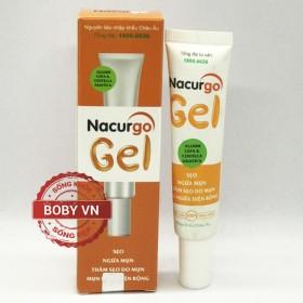Nacurgo Gel ngăn ngừa sẹo, ngừa mụn thâm, sẹo do mụn ngứa trên diện rộng