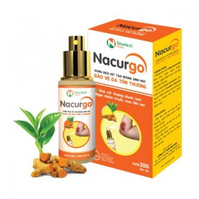 Nacurgo băng vết thương, tránh nhiễm trùng dạng xịt 12ml