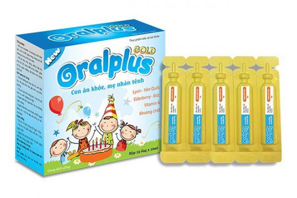 oralplus gold hỗ trợ tăng cân cho trẻ biếng ăn trẻ còi cọc