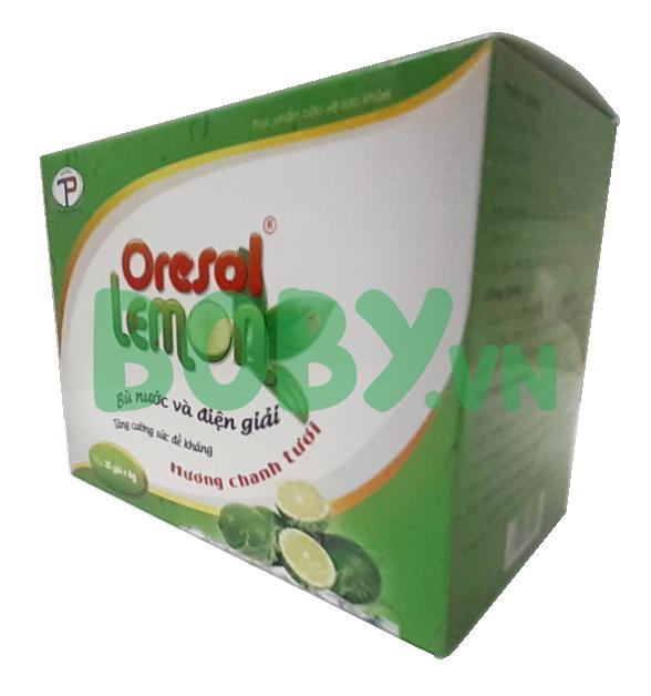 Bù nước điện giải Oresol Lemon bổ sung Vitamin C