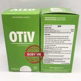 ❤️ OTIV - Cải thiện Thiếu Máu Não, Mất Ngủ, Đau Đầu, Tăng Cường Trí Nhớ, Giảm Stress - Chính hãng