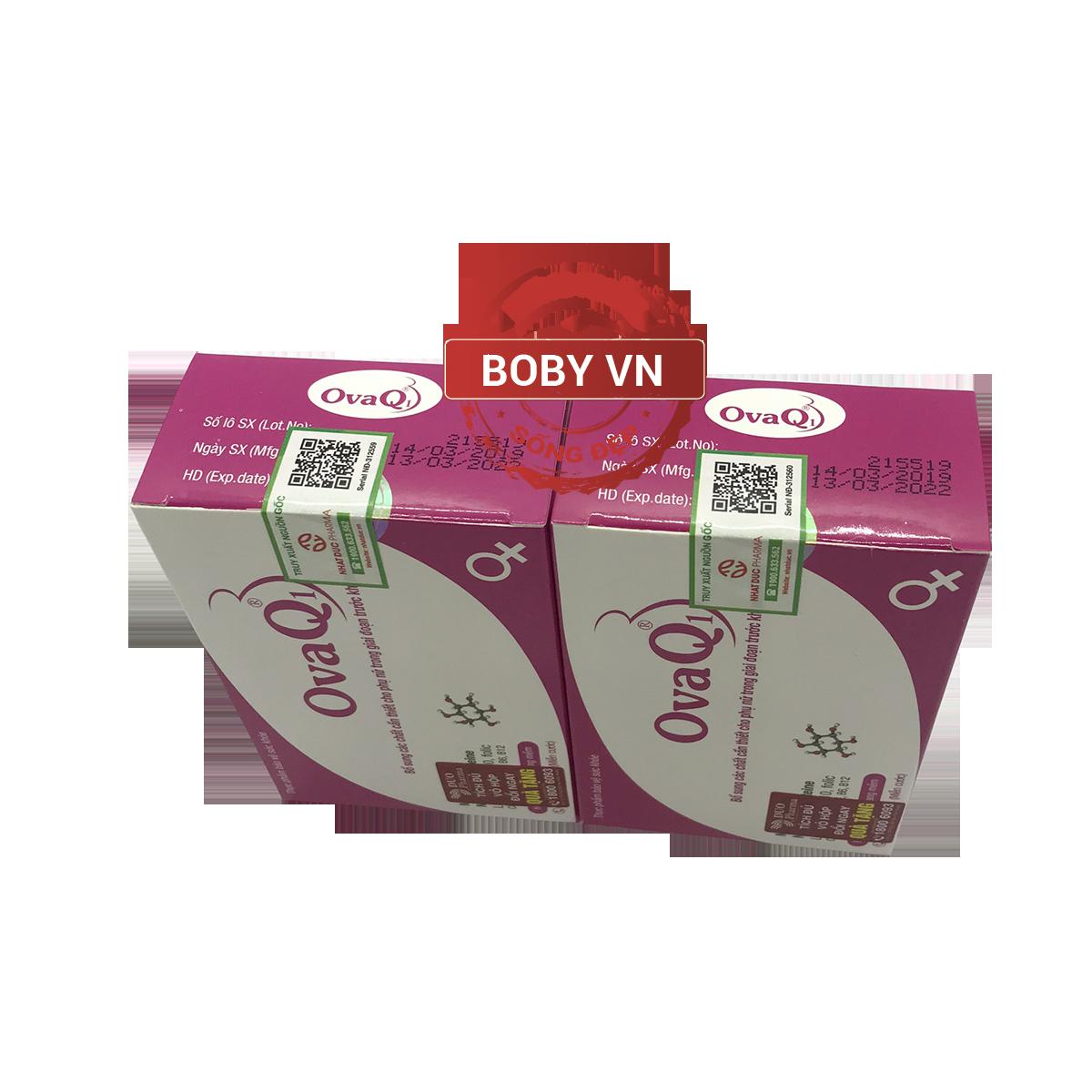 OvaQ1 hỗ trợ điều trị vô sinh ở nữ giới - Hàng chính hãng - Hộp 30 viên