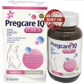 Pregcare IQ Force bổ sung DHA, Omega, EPA, Acid folic, Canxi, Vitamin và khoáng chất cho bà bầu