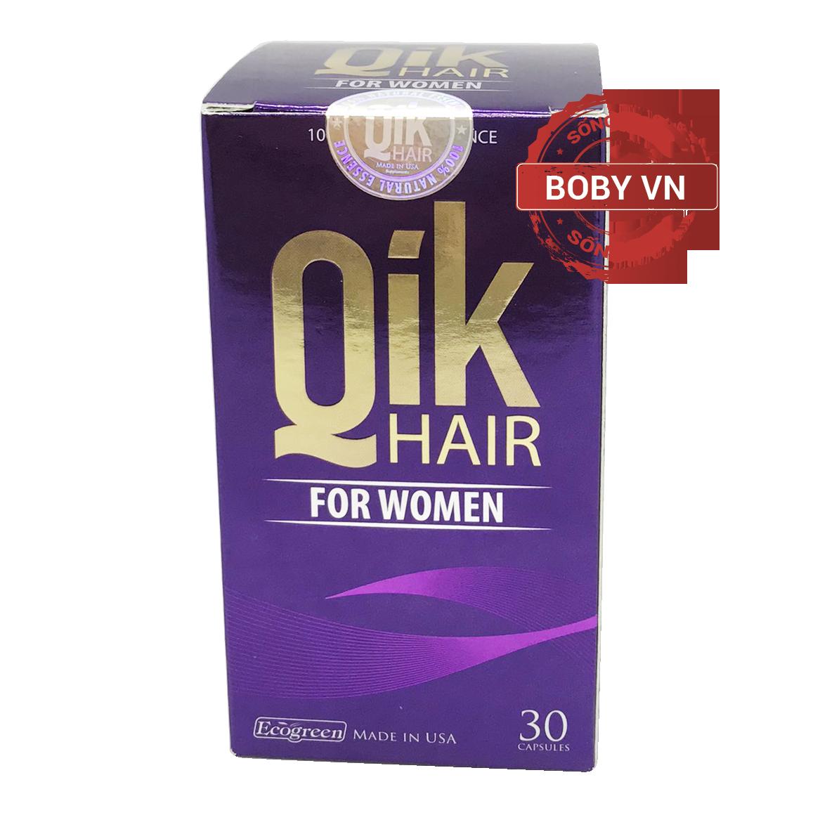QIK (FOR WOMEN) - Cải thiện tình trạng rụng tóc, kích thích mọc tóc cho nữ giới