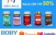 Nhà thuốc Hải Đăng siêu sale 7-7 giảm giá tới 50% khi mua hàng tại Bobyvn