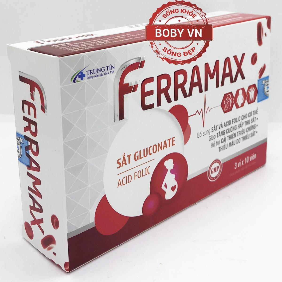 Ferramax bổ sung sắt và acid folic cho cơ thể
