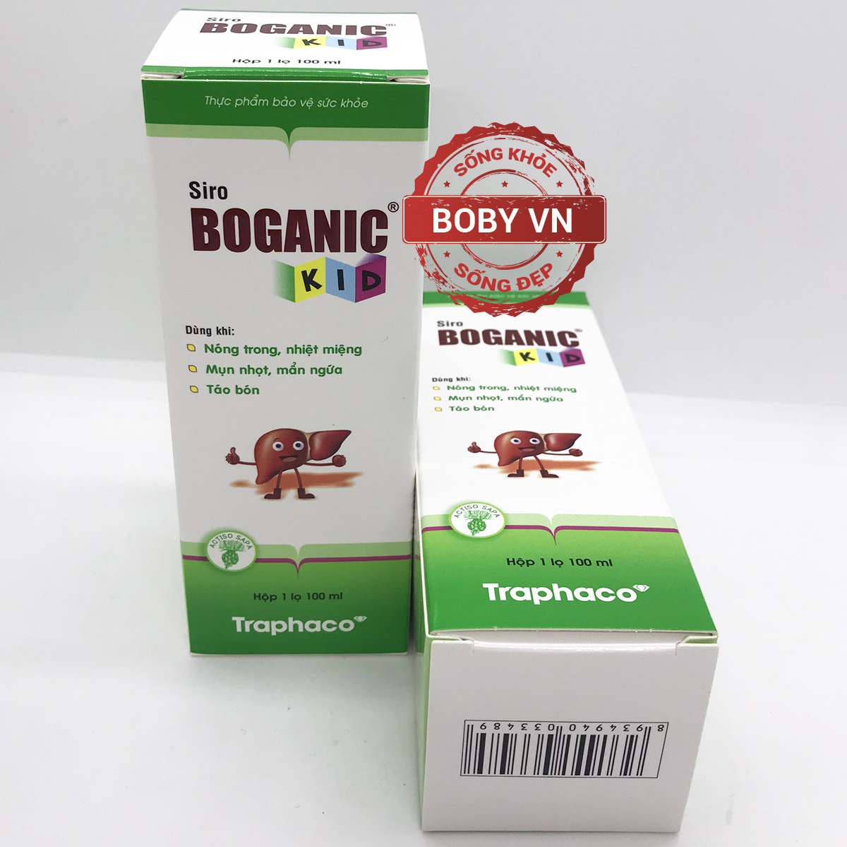 Siro Boganic Kid hỗ trợ trẻ khỏi nóng trong, nhiệt miệng, táo bón, mụn nhọt, mẩn ngứa