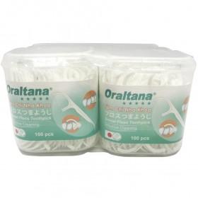 Tăm chỉ nha khoa Oraltana hộp 100 cái