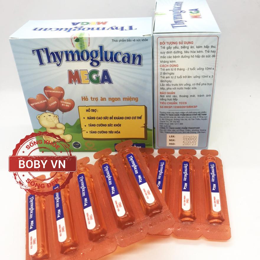 Thymoglucan Mega (Hộp 20 ống) - Hỗ trợ trẻ ăn ngon miệng, tăng cường đề kháng cho trẻ
