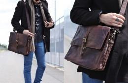 Túi xách da làm nên phong cách lịch lãm cho anh chàng công sở