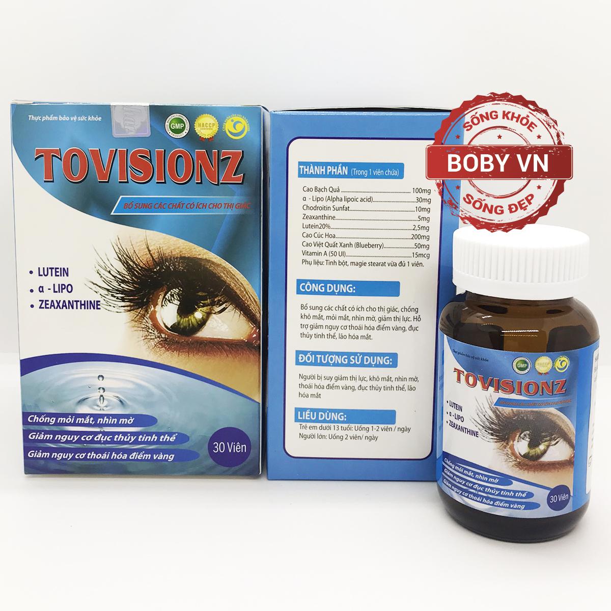 Dưỡng mắt Tovisionz - Chống khô mắt, mỏi mắt, mờ mắt, giảm nguy cơ đục thủy tinh thể