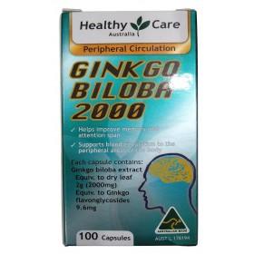 Bổ não Ginkgo Biloba Healthy Care Úc 2000mg