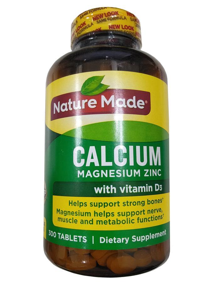 Canxi nature made calcium magnesium zinc with vitamin d3
