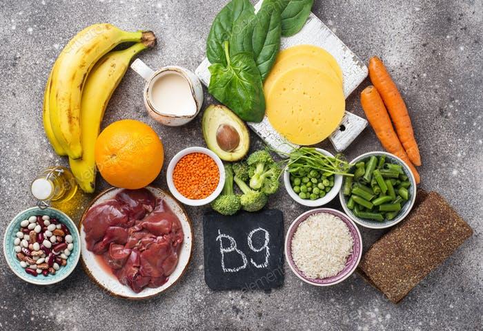 Vitamin B9 hay còn gọi là acid folic