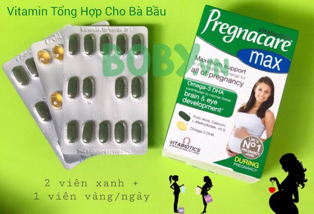 Vitamin tổng hợp bổ sung acid folic omega 3 dha cho bà bầu