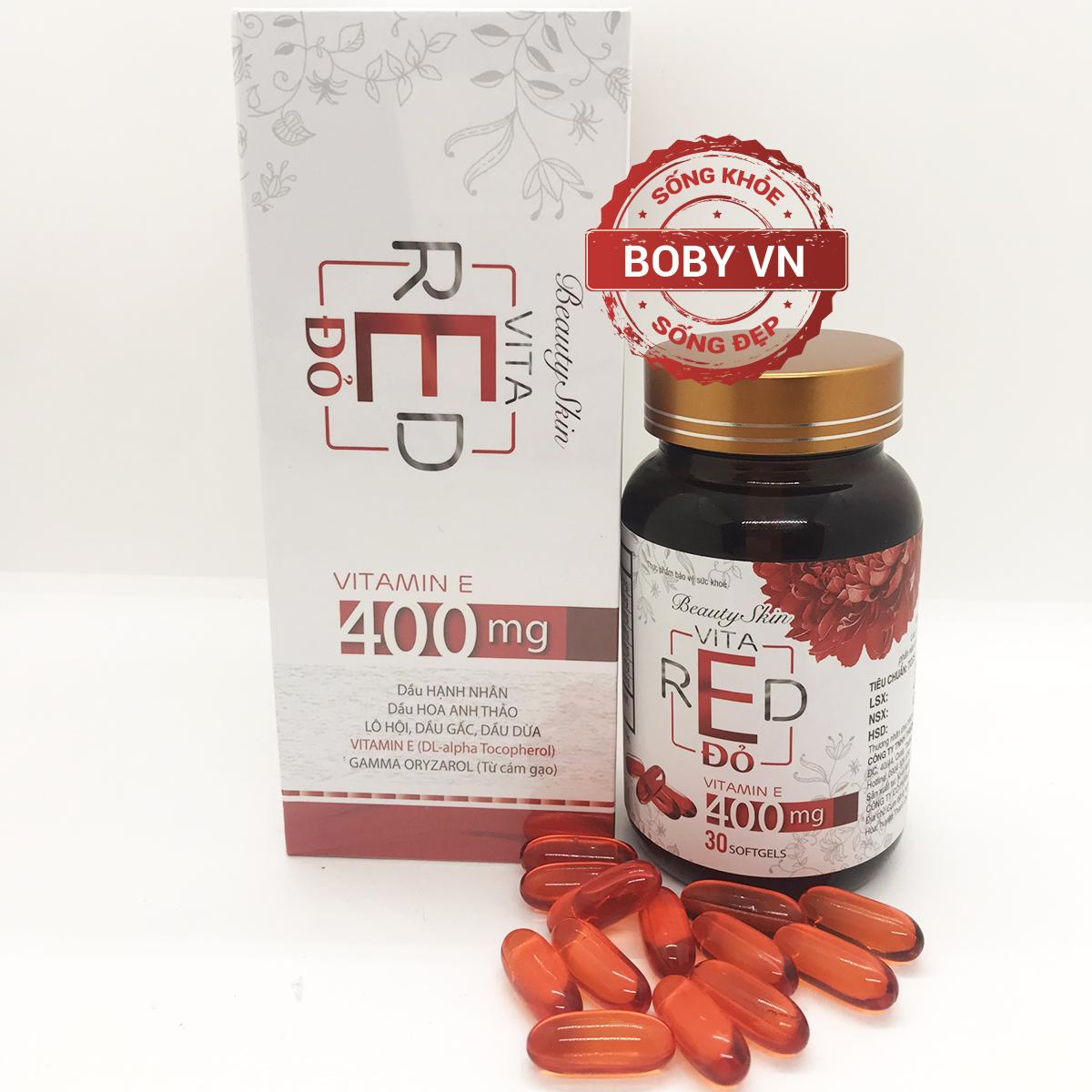 Vitamin E Đỏ 400mg - Beauty Skin Vita Red (Lọ 30 viên)