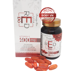 Vitamin E Đỏ 400mg - Beauty Skin Vita Red (Lọ 30 viên)