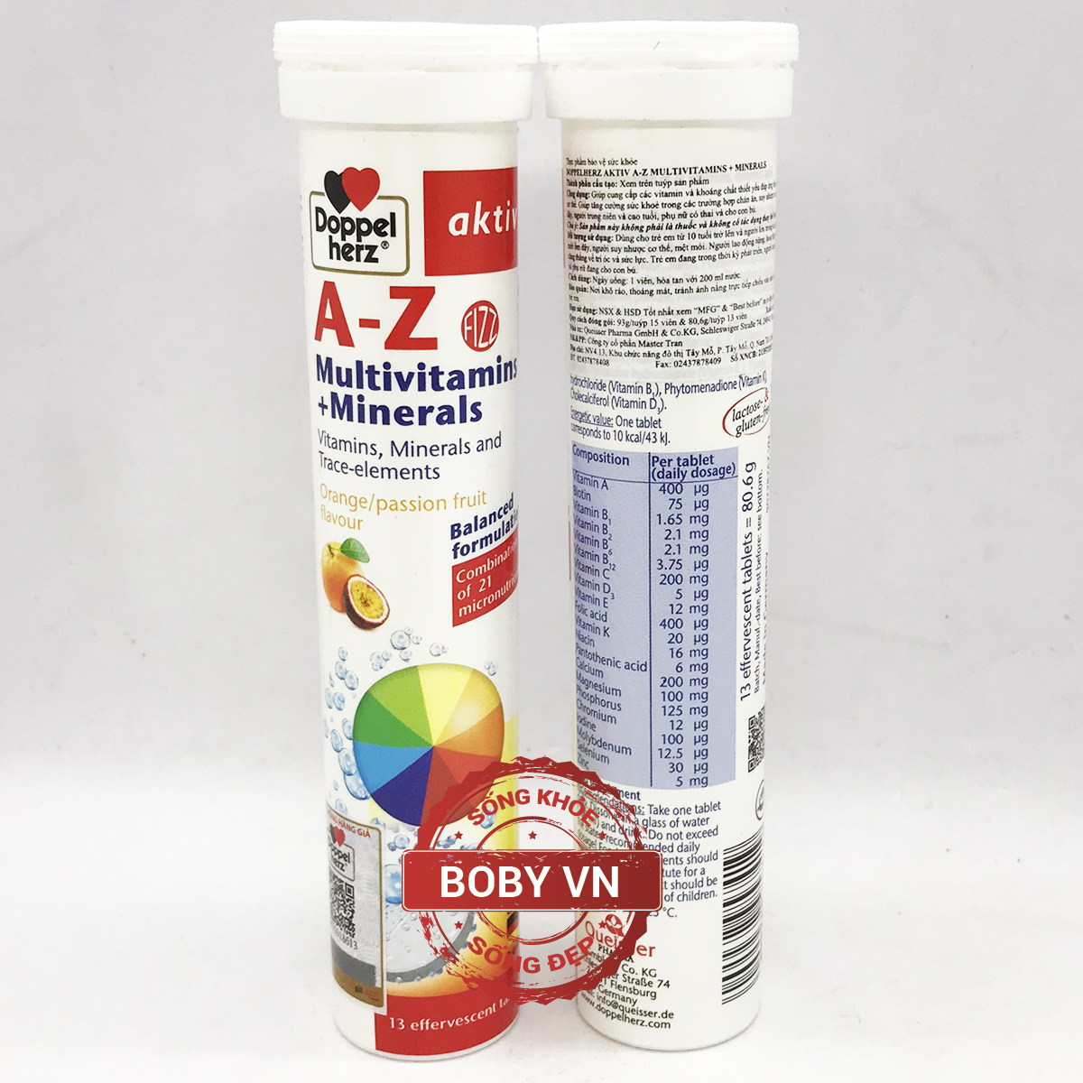 Doppelherz Aktiv A-Z MULTIVITAMINS + MINERALS - Vitamin tổng hợp - Đức