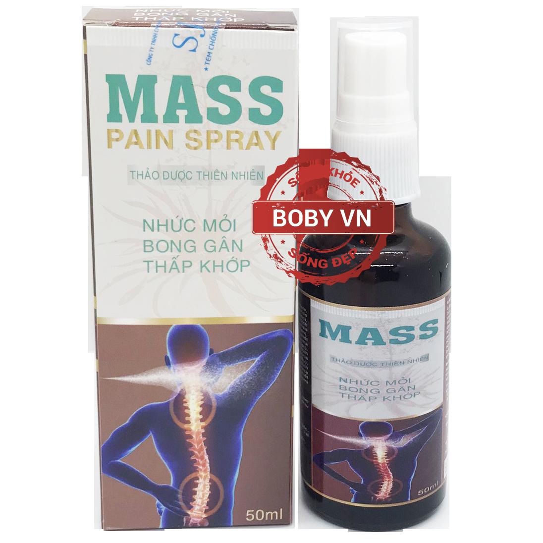 Mass Pain Spray xịt giảm nhức mỏi, bong gân, thấp khớp